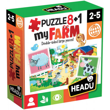 Headu- Farm Puzzle 8+1,...